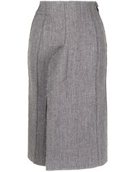 we11done Vent Detail Skirt - Grey