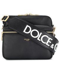 Dolce & Gabbana Bolso messenger con logo - Negro