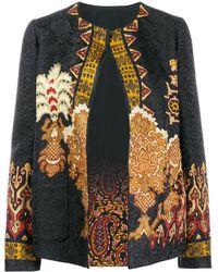 Etro Mixed Print Jacket - Black