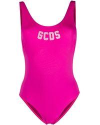 Gcds ロゴ ワンピース水着 - ピンク