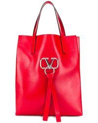 Valentino Sac cabas Garavani VRING - Rouge