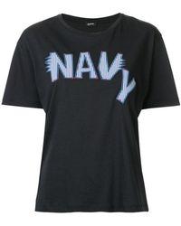 Jil Sander Navy - Embroidered Logo T-shirt - Lyst