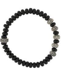 King Baby Studio - Stingray Textured Beaded Bracelet - Lyst