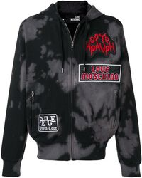 Love Moschino - Bleached Zip-up Hoodie - Lyst