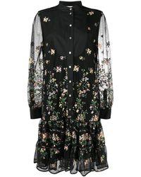 Tory Burch - Платье-рубашка С Цветочной Вышивкой - Lyst