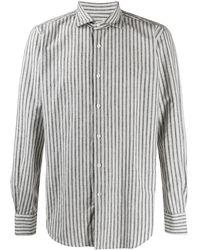 Glanshirt Striped Button Up Shirt - White