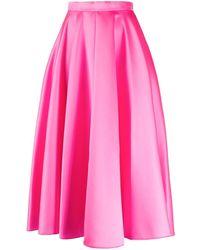 Maison Rabih Kayrouz Aライン フレアスカート - ピンク