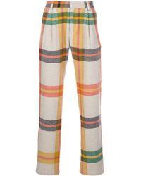 The Elder Statesman California Tartan Trousers - Multicolour
