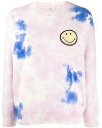 Sandro Sweater Met Tie-dye Print - Roze