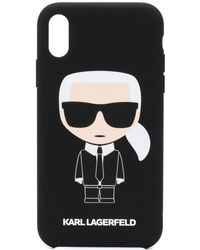 Karl Lagerfeld Чехол Karl Ikonik Для Iphone Xr - Черный