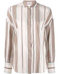 Brunello Cucinelli - Рубашка В Полоску - Lyst