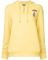 ALEXACHUNG Alien Abduction Logo Hoodie - Yellow