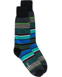 Paul Smith Полосатые Носки - Многоцветный