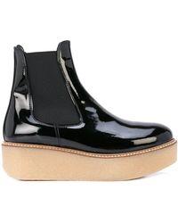 Flamingos Pooky Platform Boots - Black
