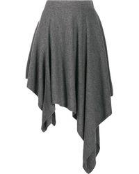Michael Kors High-low Skirt - Gray