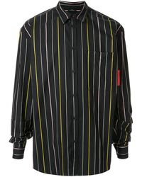 Marcelo Burlon ストライプ シャツ - ブラック