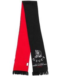 Lyst - Écharpe imprimée Gucci en coloris Noir 7d2cb6252a1