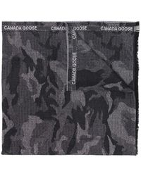 Canada Goose Camouflage Print Scarf - Black