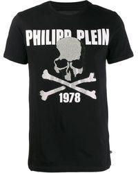 Philipp Plein T-shirt Met Doodskop - Zwart