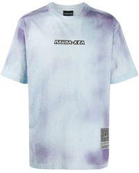 Mauna Kea T-Shirt mit Batikmuster - Blau