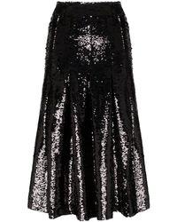 Simone Rocha スパンコール ミディスカート - ブラック