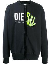 DIESEL Oversized logo print sweatshirt - Nero