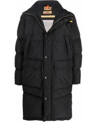 Parajumpers Logo-patch Hooded Feather-down Coat - Black