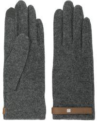 Lauren by Ralph Lauren - Grey Gloves With Tab - Lyst