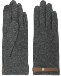 Lauren by Ralph Lauren - Grey Gloves With Tab - Lyst