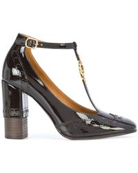 Chloé - Perry T-bar Court Shoes - Lyst