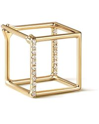 Shihara Diamond Square Earring 10 (01) - Металлик