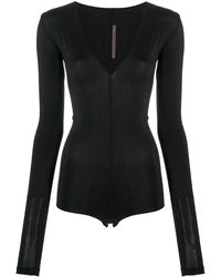 Rick Owens Lilies Shimmer-effect Fitted Body - Black