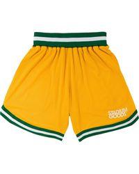 Stadium Goods Elasticated Mesh Shorts - Yellow