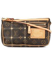 Louis Vuitton Bolso de mano con monograma - Marrón