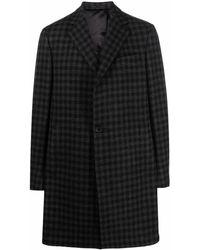 Ferragamo チェック シングルコート - ブラック