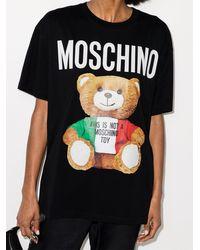 Moschino テディベア Tシャツ - ブラック