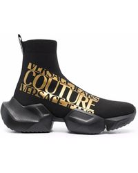 Versace Jeans Couture - ロゴ ソックススニーカー - Lyst