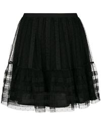 RED Valentino - Tulle Pleated Short Skirt - Lyst