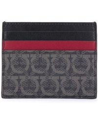Ferragamo - ブラック And グレー トラベル カード ホルダー - Lyst