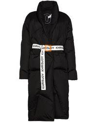 Khrisjoy Doudoune Robe à taille ceinturée - Noir