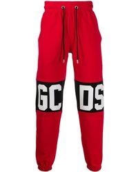 Gcds Pantaloni sportivi con logo - Rosso
