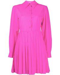 MSGM Платье-рубашка С Плиссированной Вставкой - Розовый