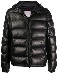 Moncler Куртка На Пуху Из Нейлона - Черный