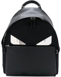 Fendi Bag Bugs Backpack - Black