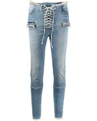 Unravel Project - Skinny-Jeans mit Schnürung - Lyst