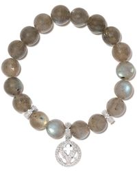 """Loree Rodkin """"Bracciale in oro bianco 14kt, diamanti e labradorite"""" - Multicolore"""
