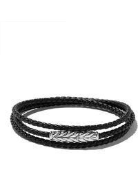 David Yurman - Chevron Triple-wrap Bracelet - Lyst