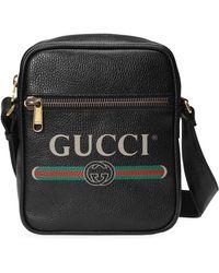Gucci Print Messengerbag - Zwart
