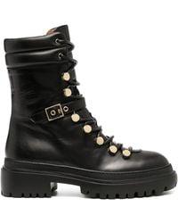 L'Autre Chose Ботинки На Шнуровке - Черный