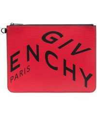 Givenchy Клатч С Логотипом - Красный